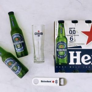 מארז בירה ללא אלכוהול, לצריכה לאחר אימון גופני
