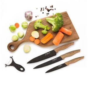 מארז סכינים וקולפן מקצועיים